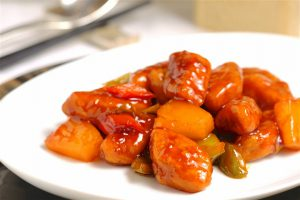 """Sweet and Sour Omnipork"" made from plant protein (Image: Omnipork)"