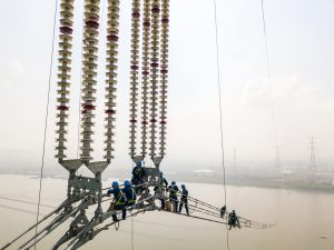 The Changji-Guquan ultra-high voltage transmission link along the Yangtze River (Image: Alamy)