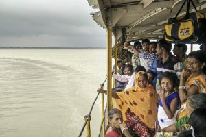 Upstream of the Farakka barrage in West Bengal, the Ganges is wide enough to make you forget that it is a river. Locals take the ferry from Manikchak on the east bank of the river to Rajmahal, which is across state boundaries in Jharkhand (All images © Siddharth Agarwal)