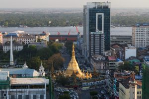The site of the second phase of New Yangon City is due to be situated across the river from the iconic Sule Pagoda. (Image: Alamy)