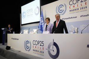 Secretary General Antonio Guterres and Executive Secretary Patricia EspinosaatCOP 25 Day 1 (Image:UNclimatechange)