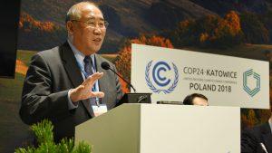 解振华在2018年的联合国气候大会上。图片来源:IISD