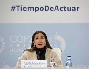 Carolina Schmidt in Madrid on 4 December(Image: UNclimatechange)