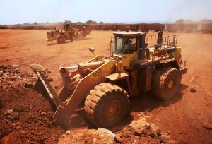 A bauxite mine in Sangaredi, Guinea (Image: Alamy)