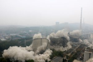 A coal power plant in Anhui province being demolished in 2018 (Image: Alamy)