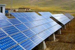 Solar panels in rural Yunnan, south-west China (Image: Alamy)
