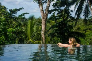 An infinity pool in Bali (Image: Alamy)