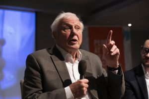 Sir David Attenborough addresses the first citizens' assembly on climate change in Birmingham (Image: Fabio de Paola / PA Wire)