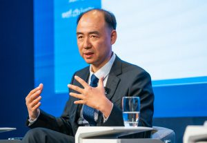 Ma Jun speaking at the World Economic Forum in Davos, 2020 (Image: