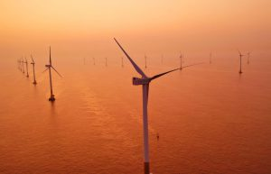 Sunrise at an off-shore wind farm near Shanghai(Image: Alamy)