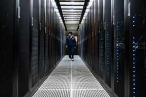 Checking servers at a China Telecom data centre in Guizhou province (Image: Alamy)