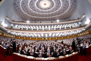 The National People's Congress at the Great Hall of the People in Beijing (Image: Alamy)
