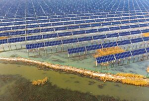 A solar power station built on prairie in Daqing, Heilongjiang province (Image: Alamy)