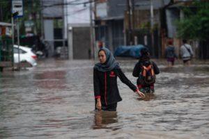 Heavy flooding in Jakarta