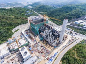 A waste-incineration power plant being built in Guizhou, photographed August 2019 (Image: Alamy)