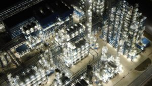 A night view of the Liaoyang Petrochemical Company factory in Liaoning province (Image: Alamy)