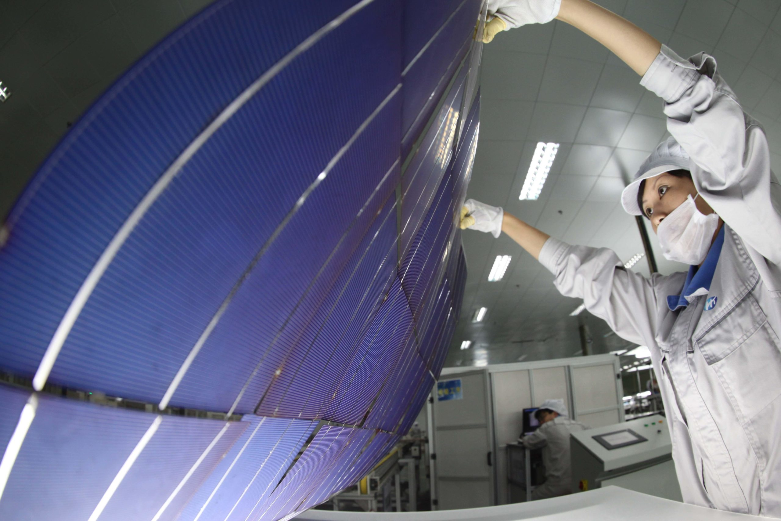 solar panels produced in China for export to europe
