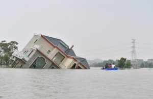 The town of Youdunjie in Poyang county, Jiangxi suffered particularly acute flooding in July (Image: Alamy)