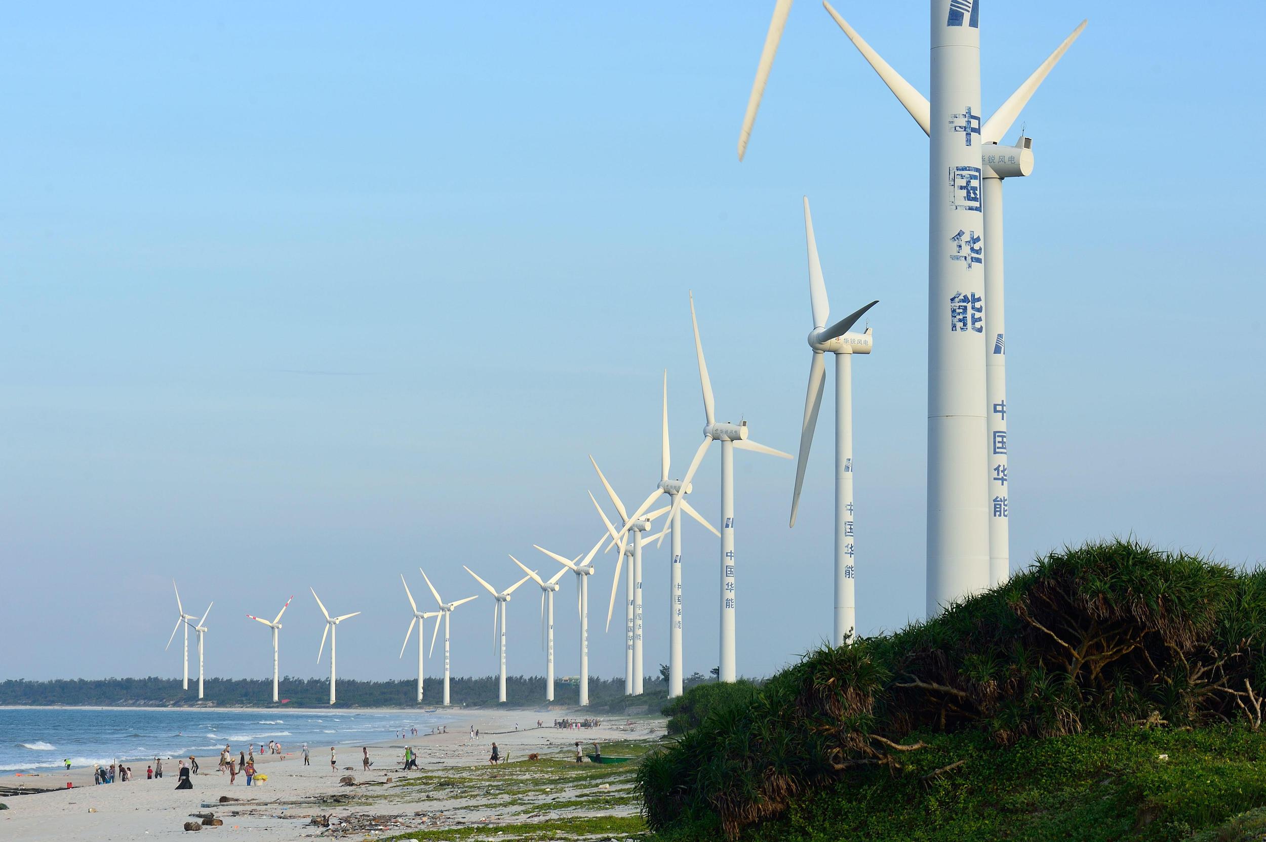Wind turbines in China's Hainan province (Image: Alamy)