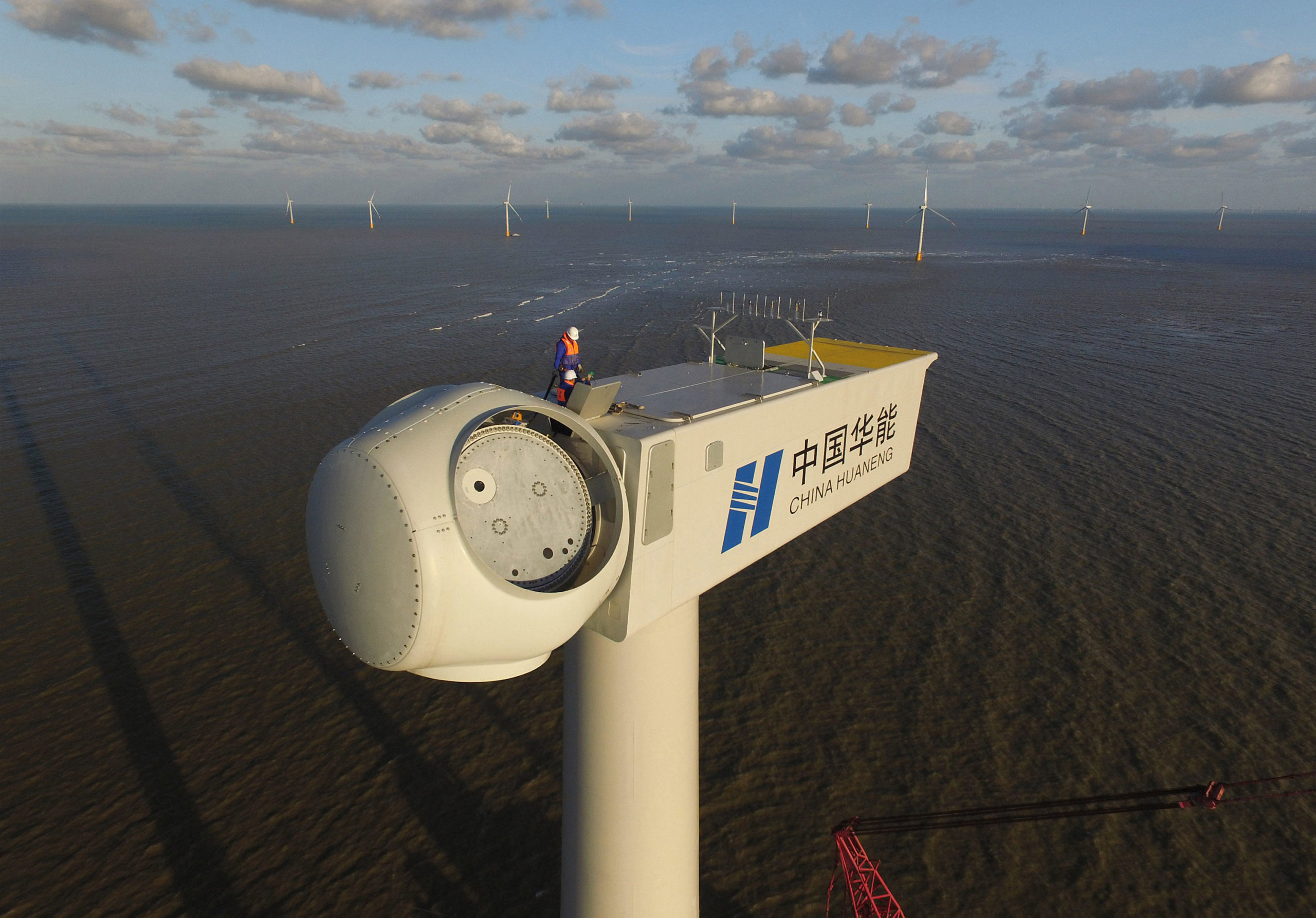 A wind turbine hub, just before the addition of blades (Image: Huang Hai / Alamy)