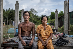 Yen Soth and her husband Youn Yoeurn have had to dismantle their house to make way for the power plant.