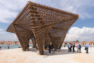 The Bamboo Stalactite pavilion at the Venice architecture biennale in 2018 (Image: Riccardo Bianchini / Alamy)