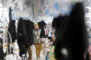 An employee at an H&M factory in Kandal province, south-east Cambodia (Image: Sylvia Buchholz / Alamy)