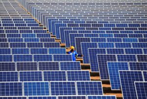 Chinese solar company Yaowei stated in 2019 that it will set up a solar panel production plant in Zimbabwe, increasing access to the African market (Image: Alamy)