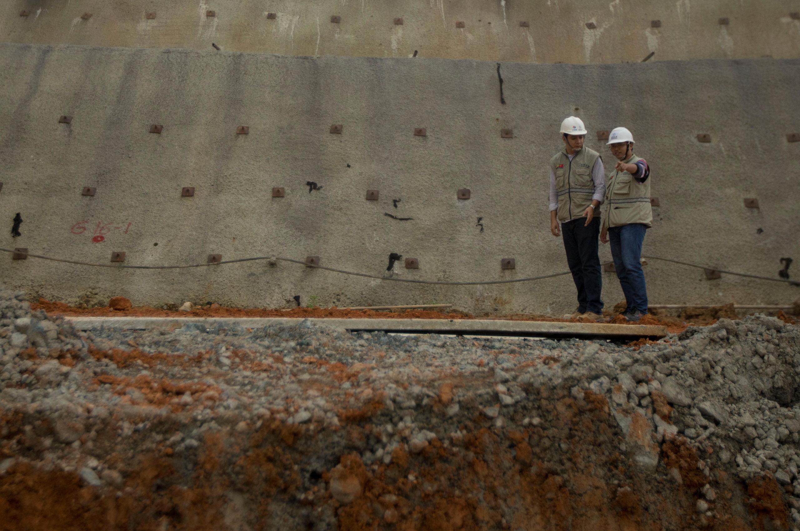 Chinese-financed Minas-San Francisco hydroelectric project in Sarayunga, Ecuador