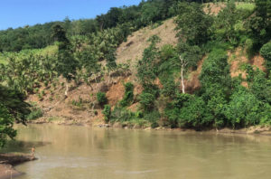 A section of the Pulangi River that will be affected by the planned 250 MW hydropower plant on the southern Philippine island of Mindanao