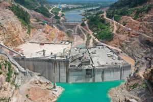 The construction site of the Nam Theun 1 hydropower project in Borikhamxay Province, Laos. (Image: Alamy)