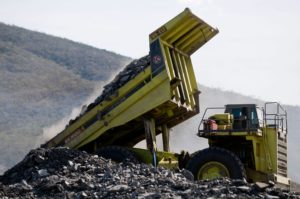 Opencast coal mine in Cerrejon, Barrancas - La Guajira, Colombia. A joint venture of three international mining firms.