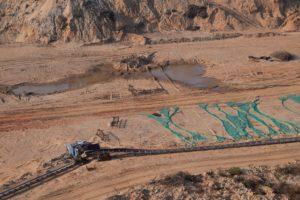 Poyang lake sand mining