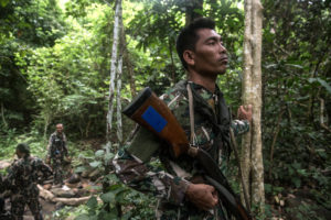 Crack teams of forest rangers patrol Thailand's Ta Phraya National Park