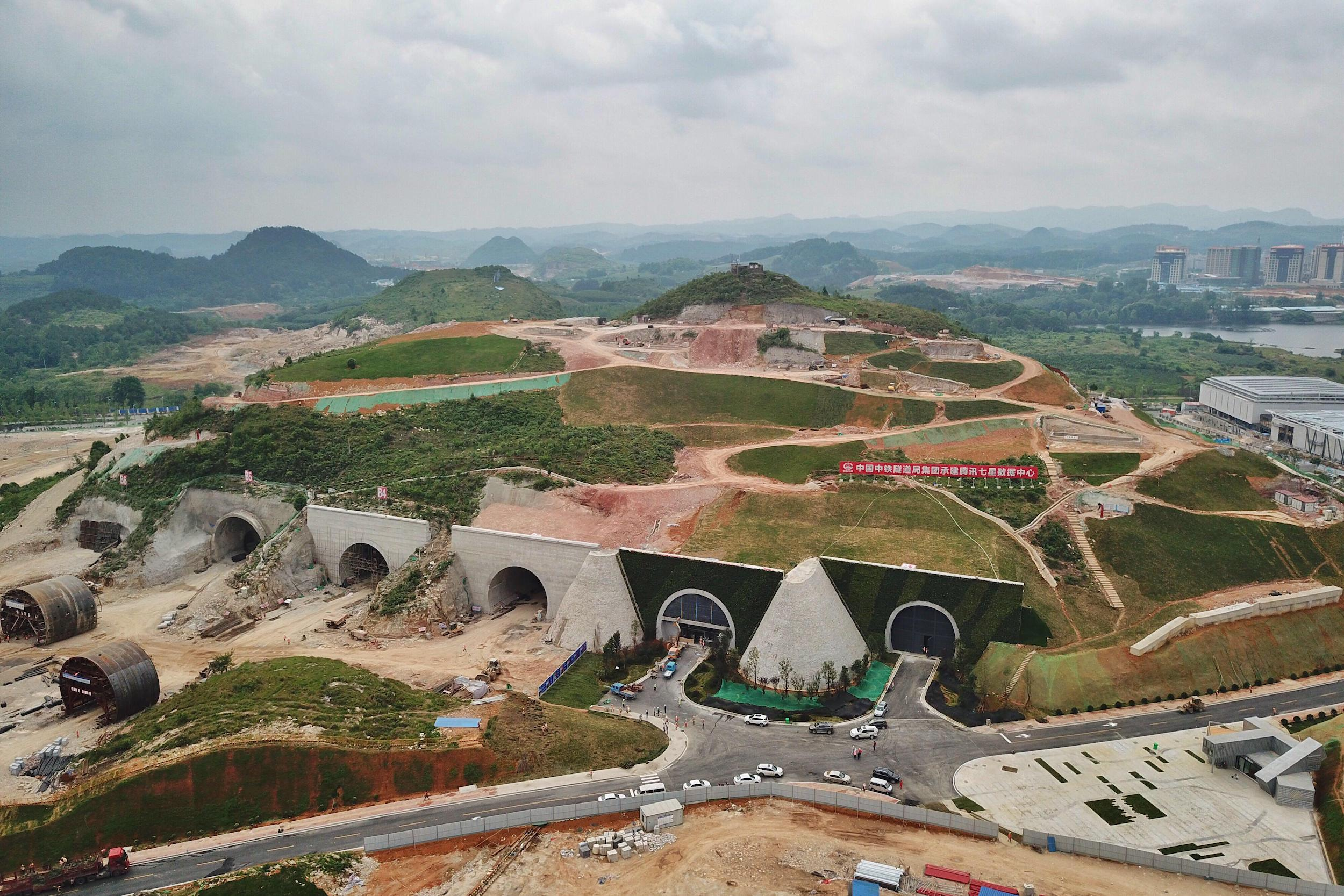 Construction of a Tencent data centre in Guizhou province, southwest China