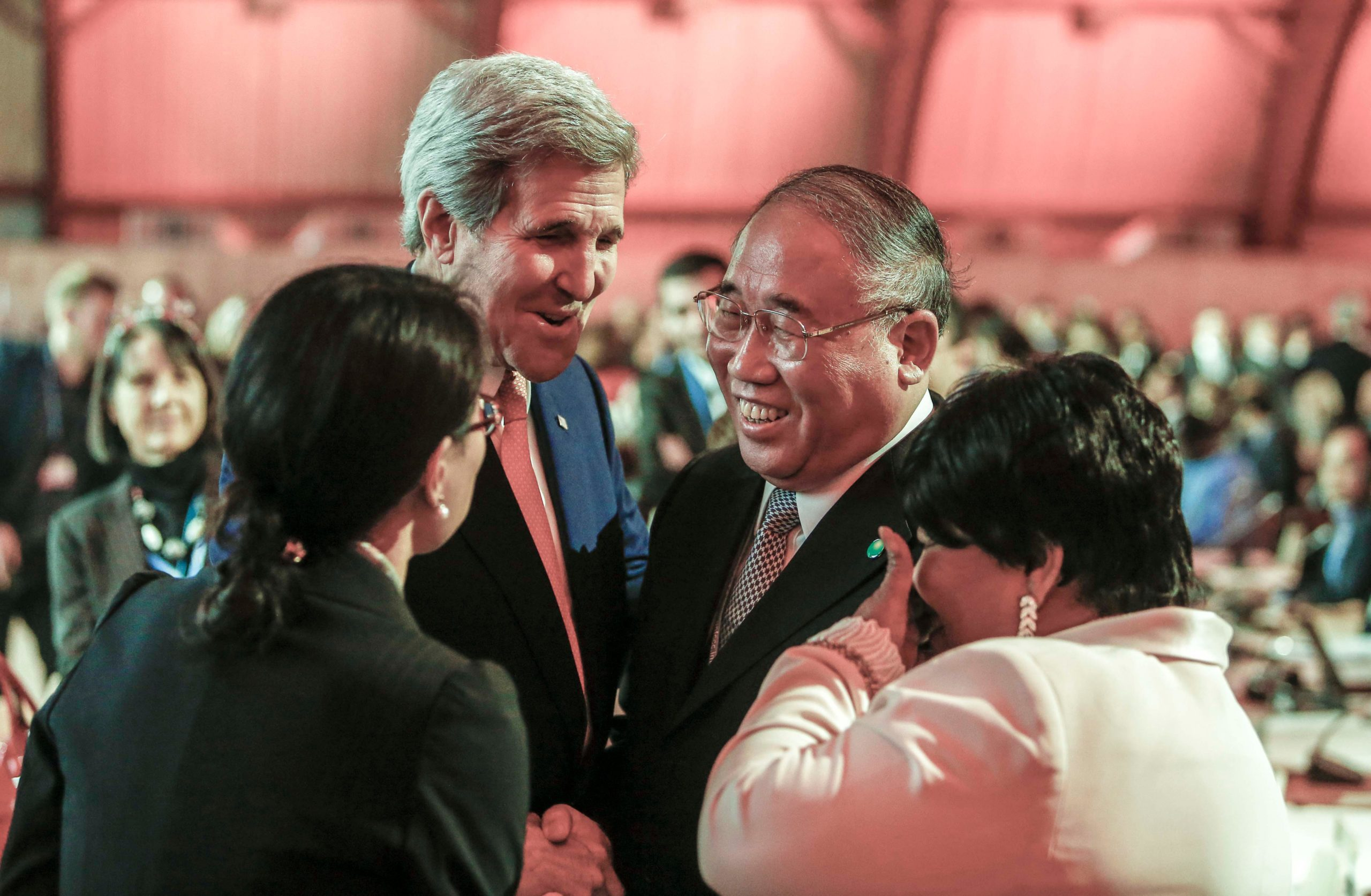 The warm relationship between John Kerry and Xie Zhenhua was essential to the adoption of the Paris Agreement in 2015 (Image: Alamy)
