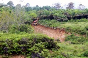 construction at the dam area, Sopokomil village
