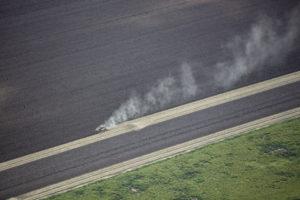 巴西塞拉多大草原上的大豆种植园。图片来源:© Marizilda Cruppe / Greenpeace