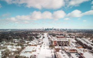 Aerial photo, Texas ice storm and power outage that devastated Texas in February 2021