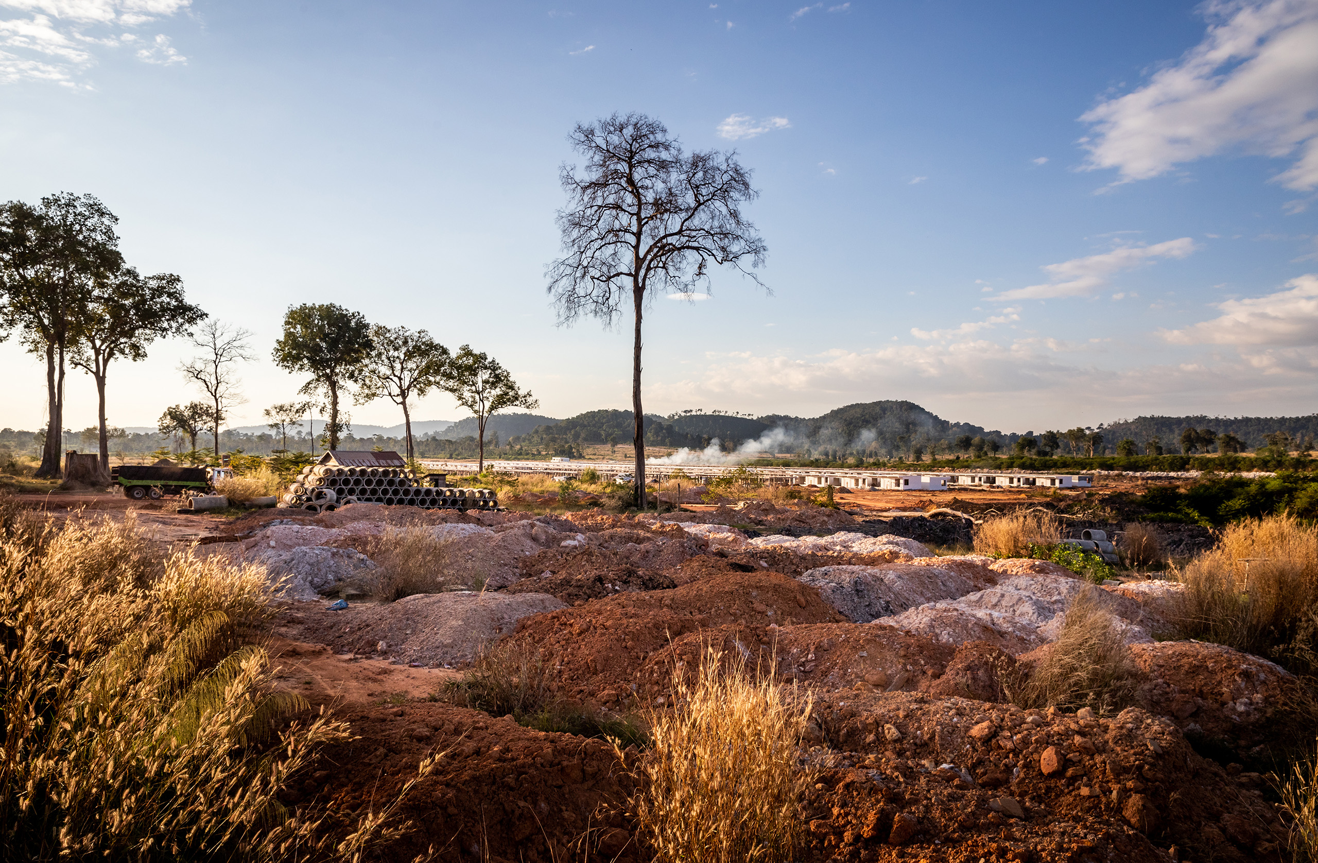 Chinese developer Yeejia has cleared large areas of once-forested land in Cambodia's Ream National Park
