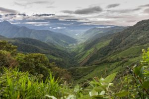 Hills of the Andes in Colombia