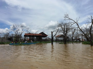 area flooded by lower sesan dam, cambodia
