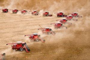 Harvesting soy in Mato Grosso state, Brazil