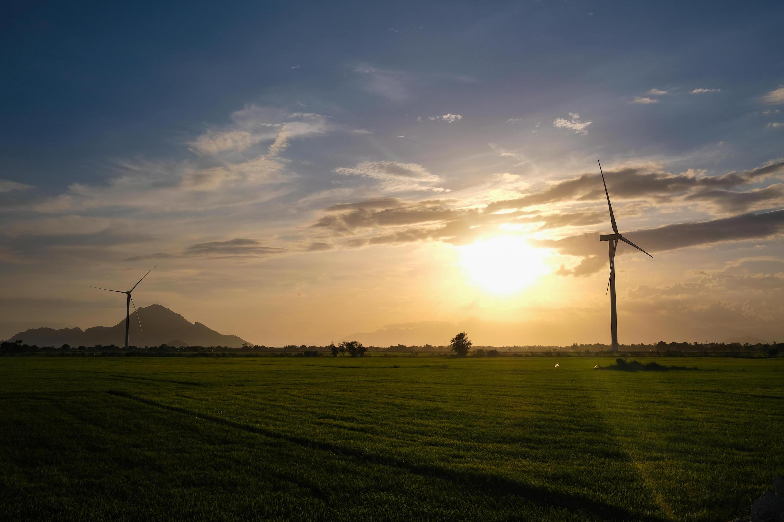 A wind farm in Vietnam