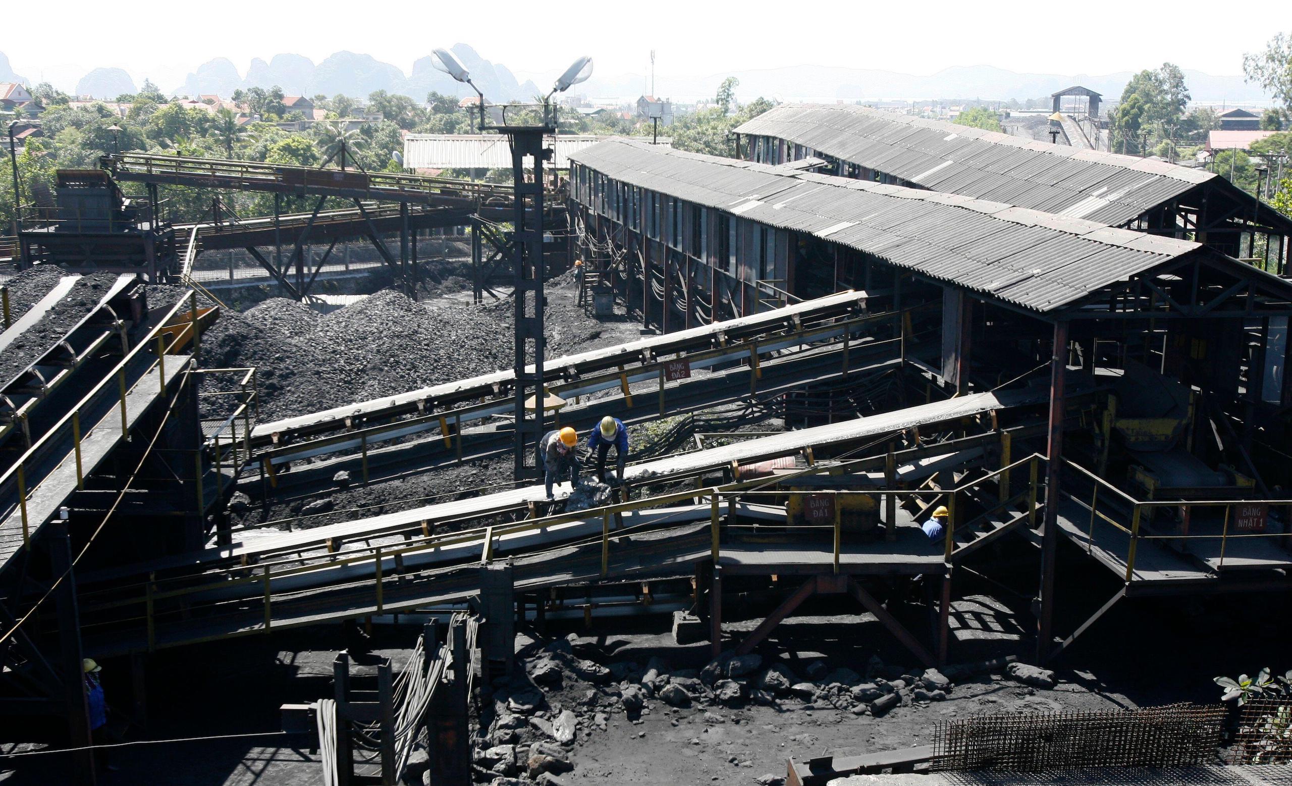 A coal preparation factory at the Coc 6 open-cast coal mine in Vietnam