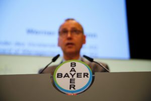 Under growing pressure from campaigners and investors, agribusiness giant Bayer pledged to end sales of the herbicide glyphosate in the US by 2023 (Image: Wolfgang Rattay / Alamy)